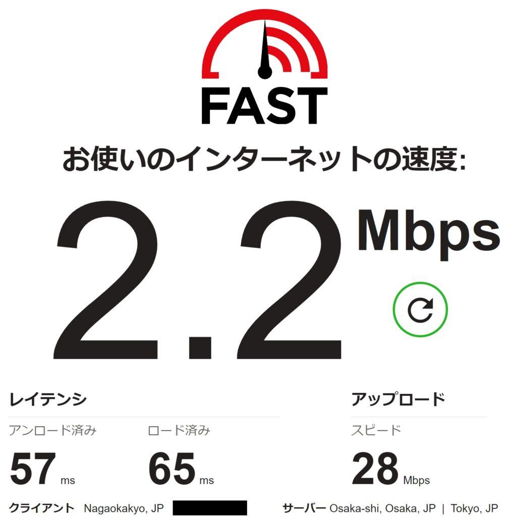 IPv4接続 21時測定結果